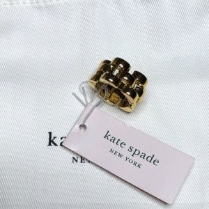 Kate Spade Sliced Scallops Ring Gold Tone size 5